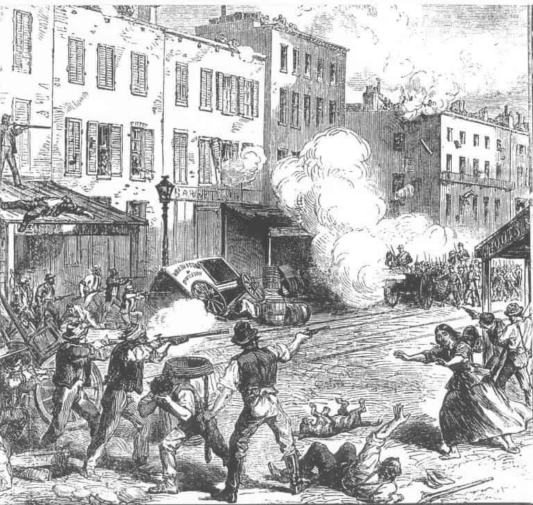 Illustration der Draft Riots