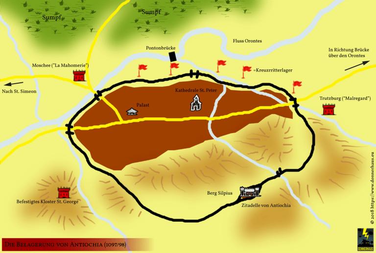 Karte: Die Belagerung von Antiochia