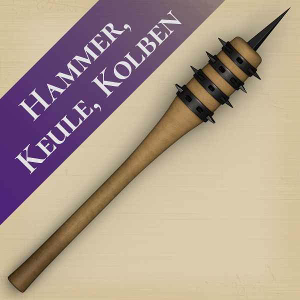 Hammer, Keule, Kolben