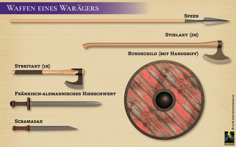 Typische Waffen eines Warägers