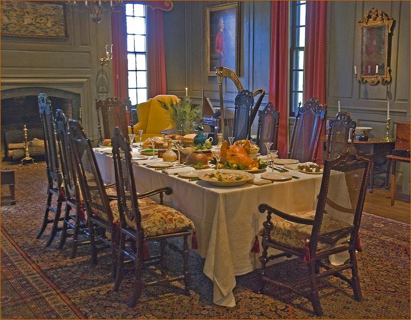 Winterthur dining room christmas
