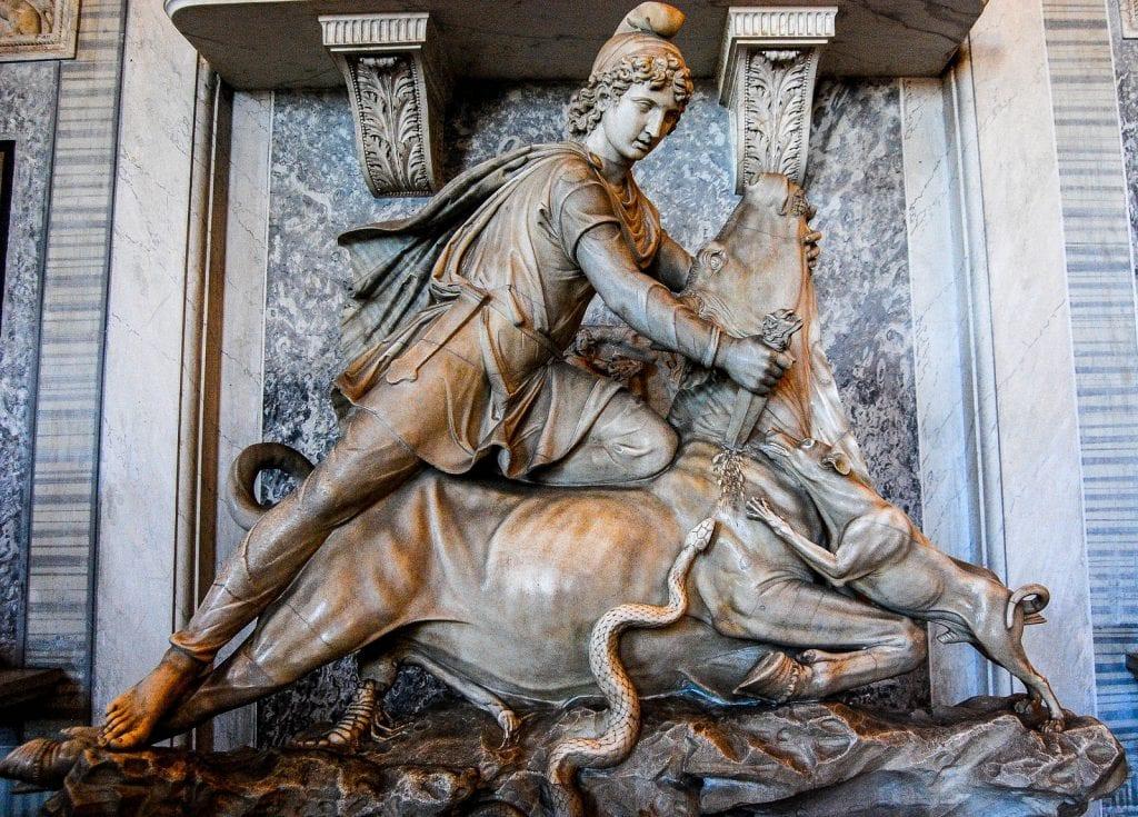 Mithras opfert einen Bullen