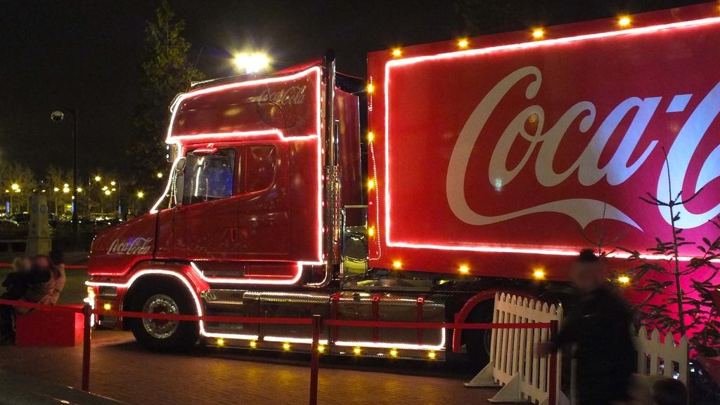Coca Cola SAnta Claus Truck
