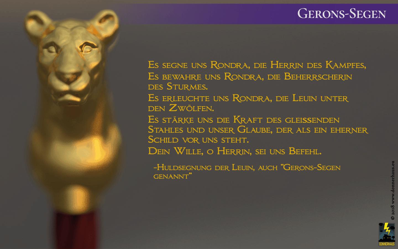 Gerons-Segen und Knauf