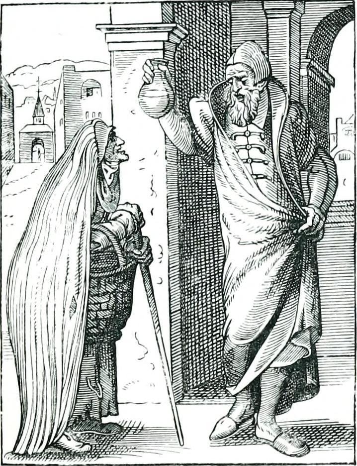 Arzt und arme Frau 1372