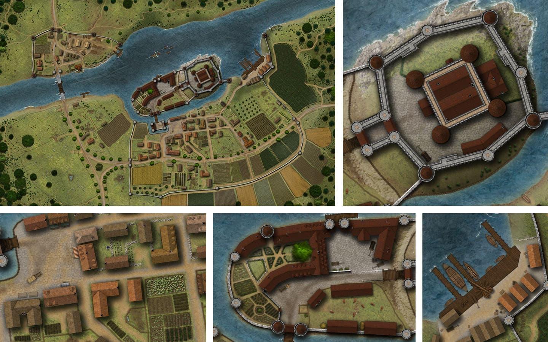 Motte, Fried und Wasserburg – neue Karten für dein Lehen