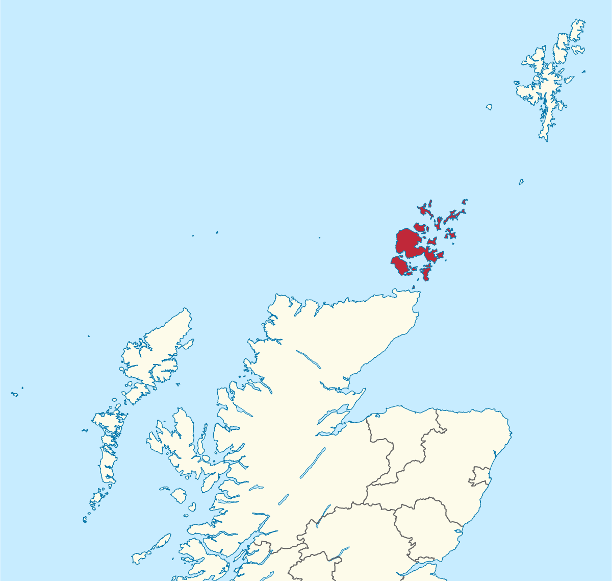 Map Orkneys