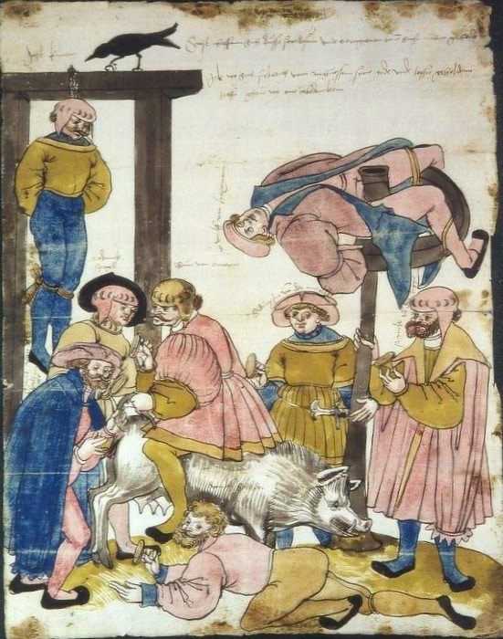 Schmaehbrief von 1528 - Darstellung mit Schandbild