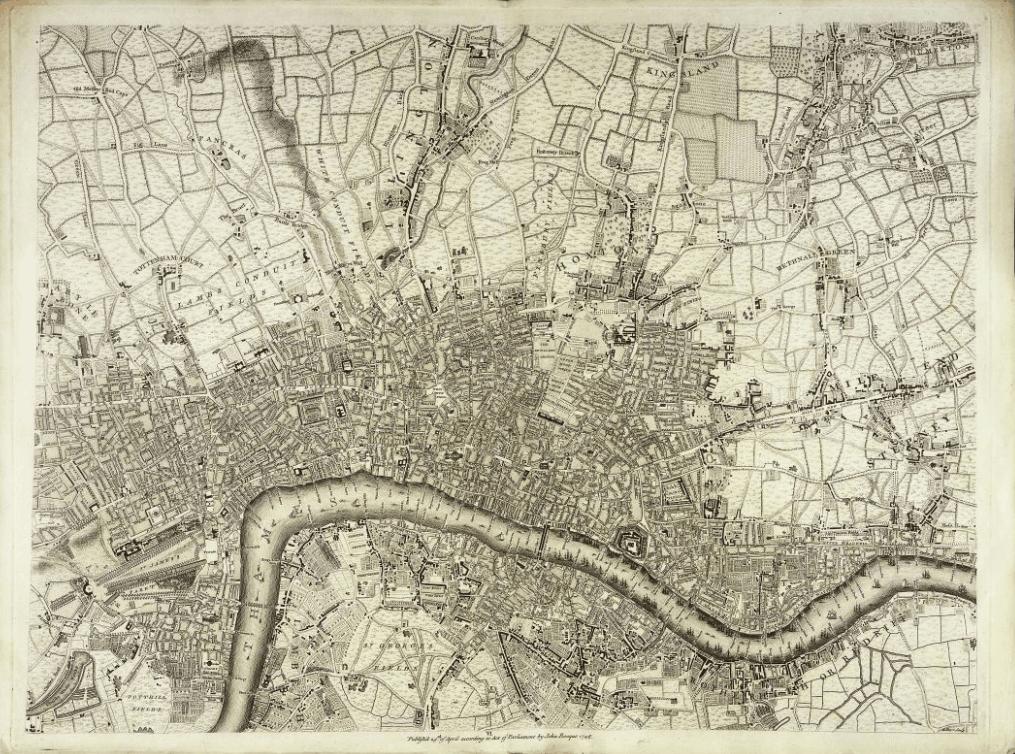 Karte von London, John Rocque 1746