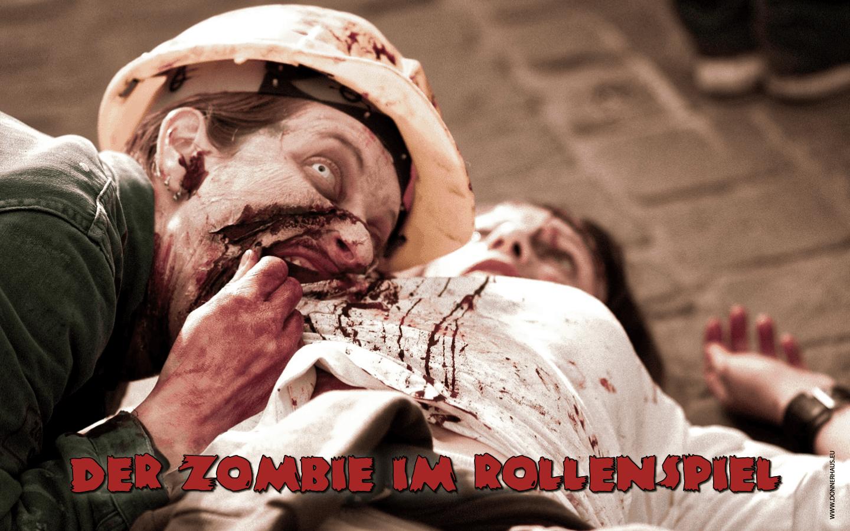 Zombie frisst Bauch