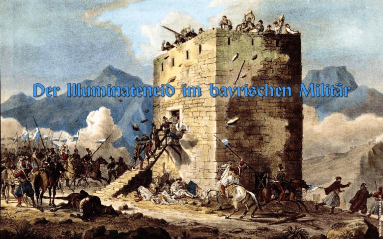 Bayrisches Expeditionskorps in Griechenland greift einen befestigten Turm an.