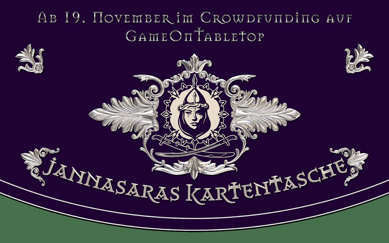 Jannasaras Kartentasche - alle Karten ab 19. November im Crowdfunding auf GameOnTabletop