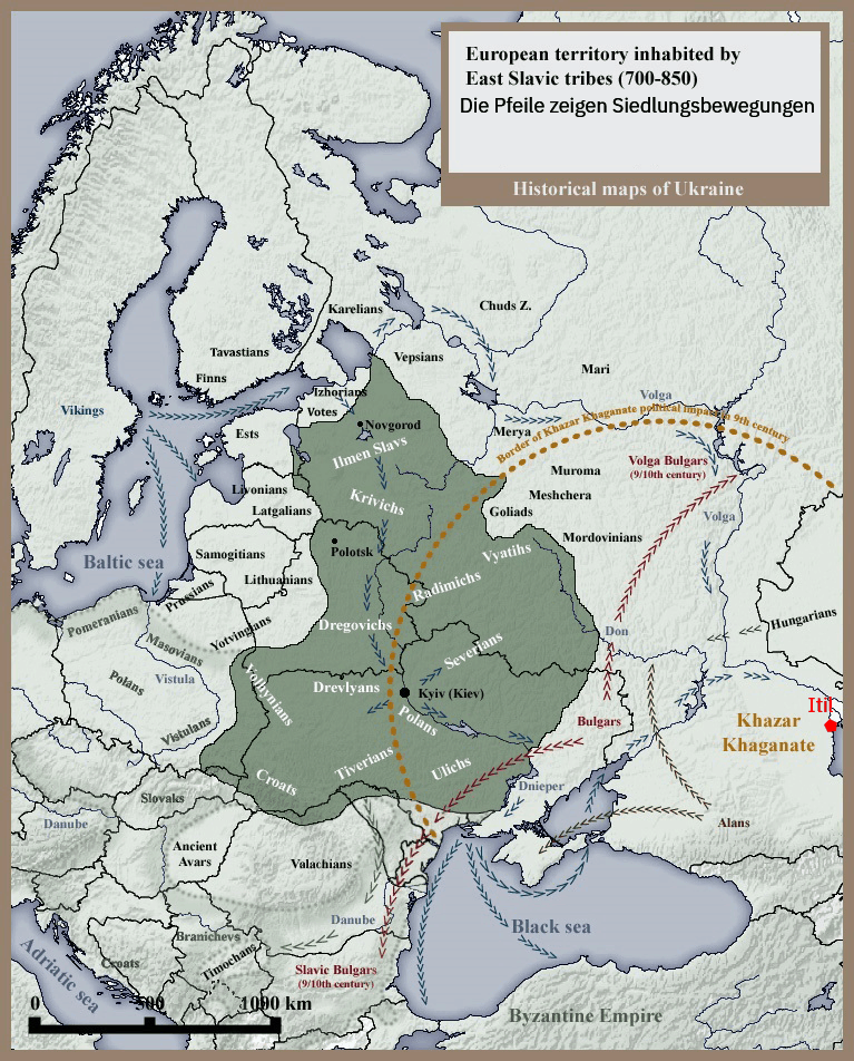 Karte des Kiewer Rus